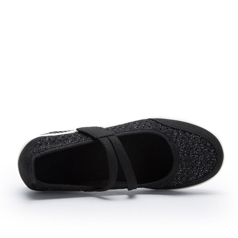 Image 4 - STQ 2020 Autumn Women Flats Platform Shoes Women Breathable Mesh Casual Shoes Female Platform Sneakers Shoes Ladies Shoes TF8023Womens Flats   -