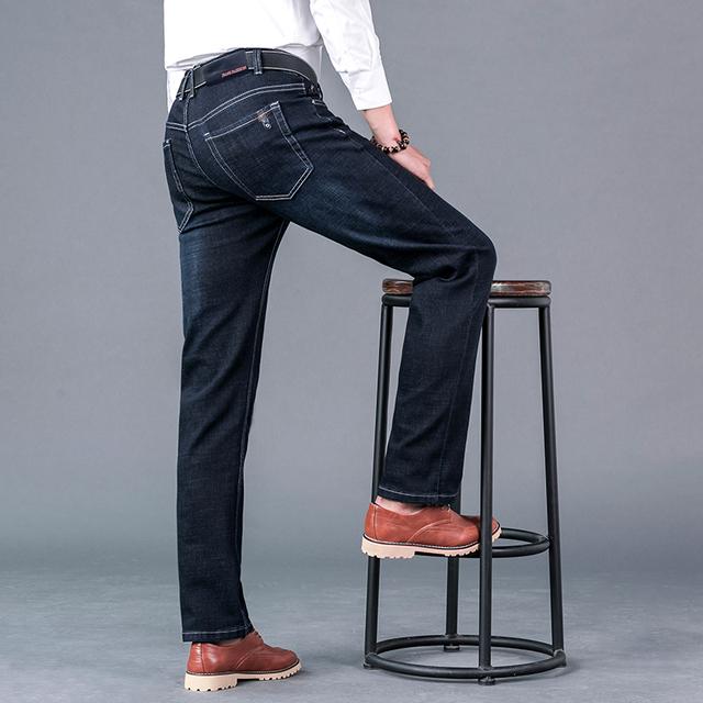Men'S Jeans Homme Straight Biker Moto Jean Pants Classic Calca Masculina male