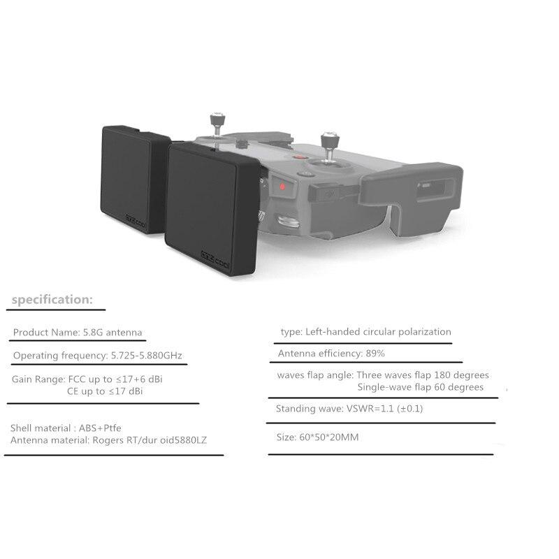 DJI Remote Control Modified Antenna 16 DBi Signal antenna For DJI mavic pro Air SPARK mavic 2 pro zoom phantom 4PRO Drone 1 (10)