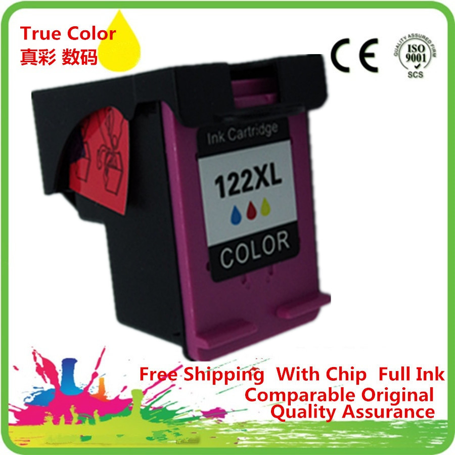 Ink Cartridges Remanufactured For 122 XL HP122 <font><b>HP122XL</b></font> 122XL Envy 114 120 Offcejit 4630 4634 4620 2630 Printer image