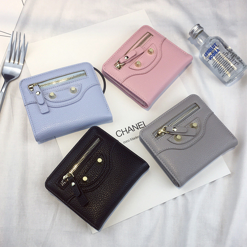 New Lady Mini Simple Small Wallet Short Fashion Zipper Wallet Cute and Minimalist Beautiful Elegant