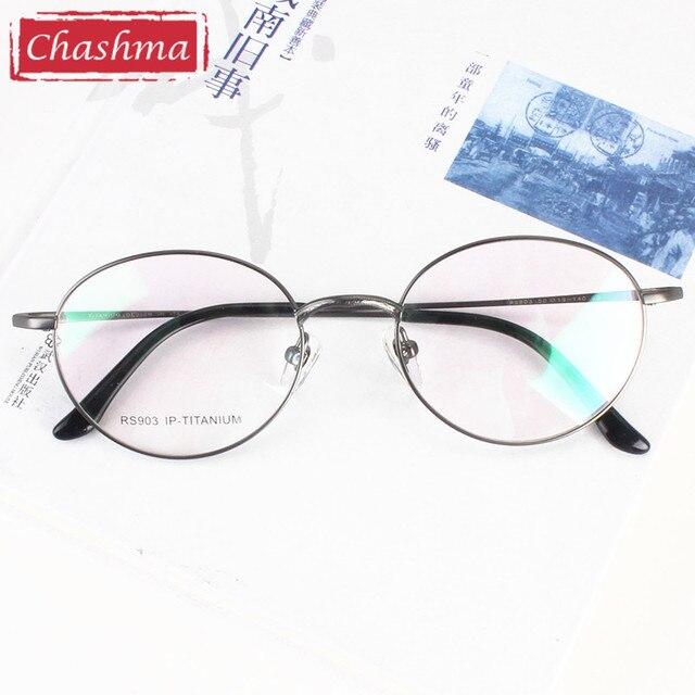 Чашма Новый Titanium Круглые Очки Оптический Винтаж Оправы для очков Ретро Очки По Рецепту