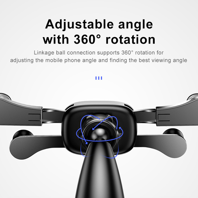 Baseus Car Phone Holder for iPhone Samsung Gravity Mount Holder Stand Dashboard Car Holder for Huawei Xiaomi Mobile Phone Holder 2