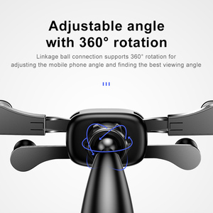 Image 2 - Baseus Auto Telefoon Houder Voor Iphone Samsung Gravity Mount Houder Stand Dashboard Auto Houder Voor Huawei Xiaomi Mobiele Telefoon Houder