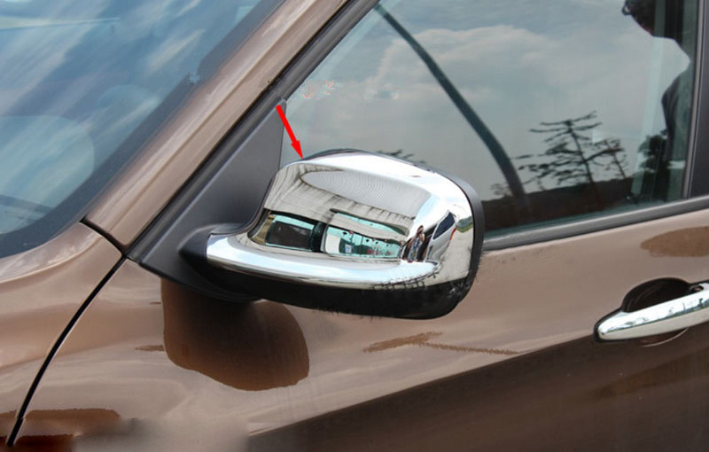 Car Accessories Side Mirror cover rearview mirror cover for bmw x1 E84 2009 2010 2011 2012 Xdrive abs chrome 2pcs