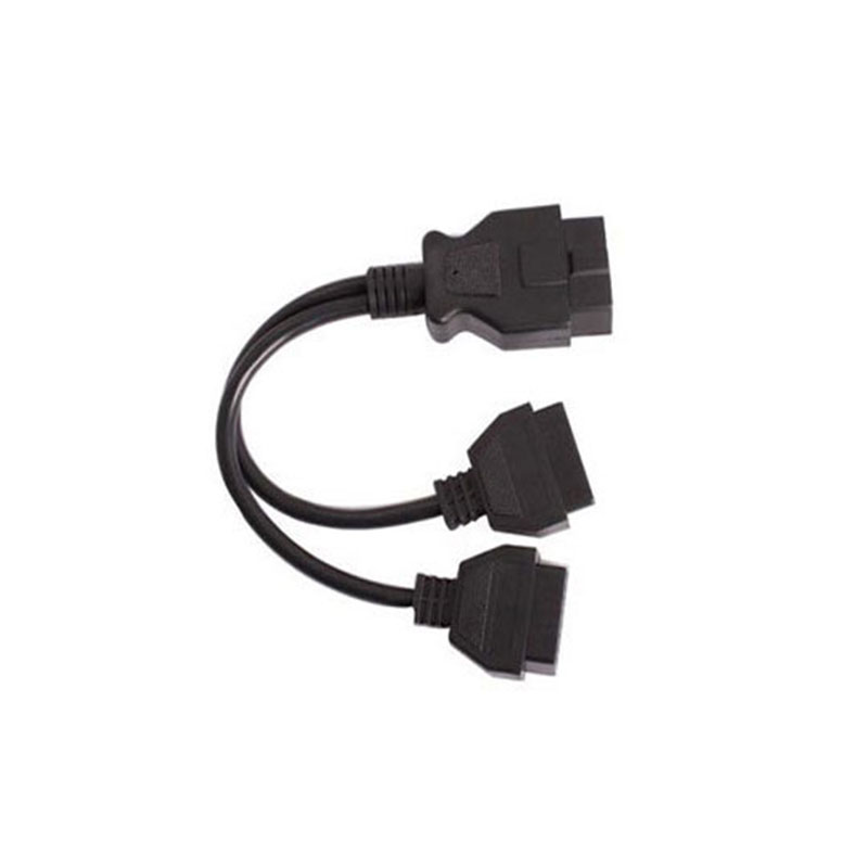 OBDII Cable ELM327 Bluetooth/Wifi OBD2 Diagnostic Interface 2In1 Converted Extension Cable Elm 327 Connector Cable OBD 16Pin
