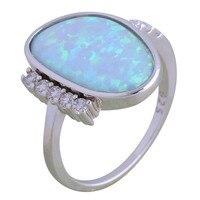 Fine Jewelry Для женщин кольцо синий огненный опал 925 пробы серебро оптом Свадебная вечеринка подарки кольцо для Для женщин R188