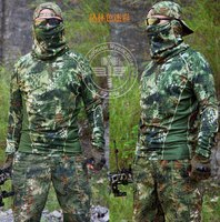 Tactical Python camouflage Long Sleeve T shirt Quick Dry Kryptek Camo Highlander for Hunting Hingking