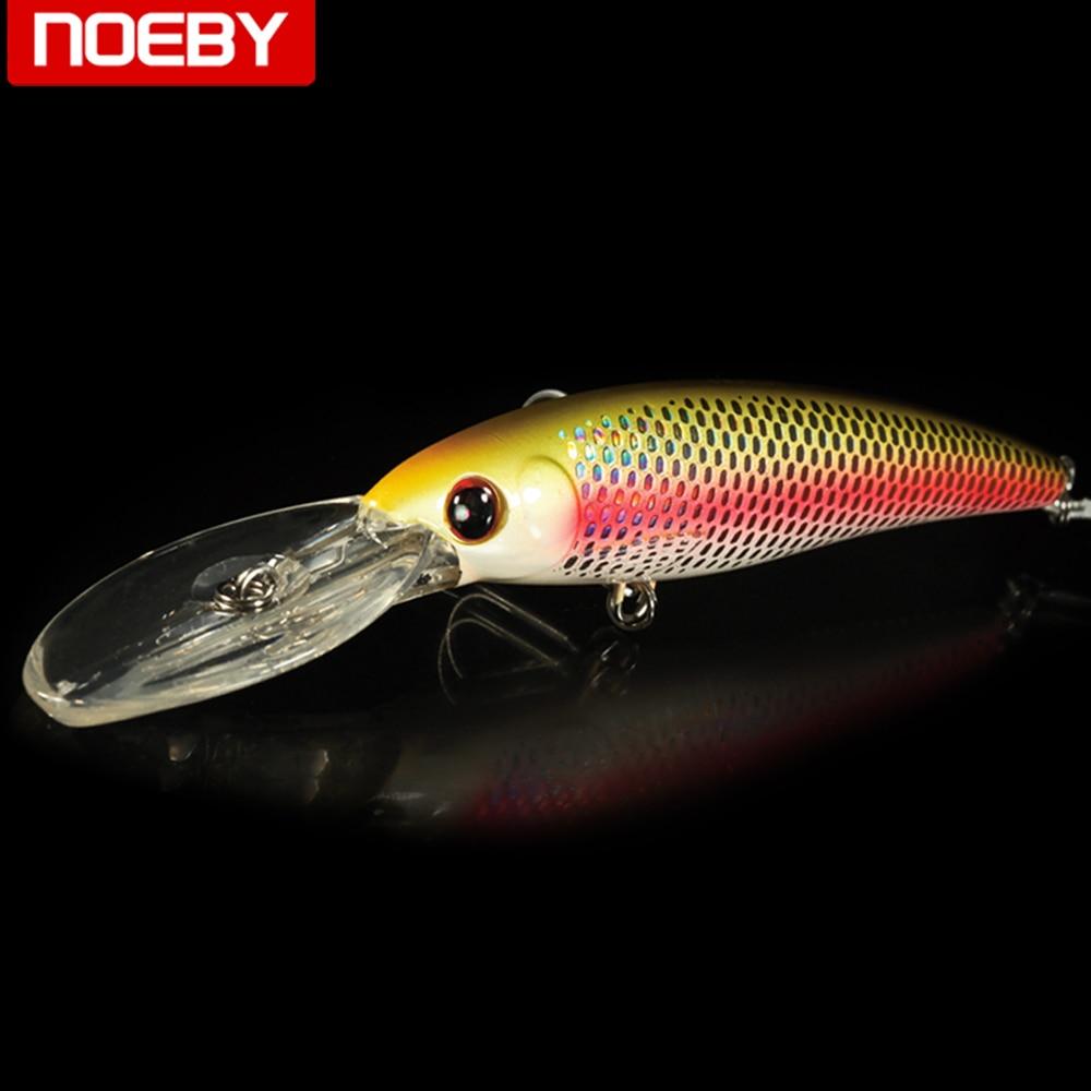 NOEBY minnow flotante bass pike walleye trucha pesca wobbler hard baits swimbaits señuelo artificial conjunto Mar 12 cm/ 32G