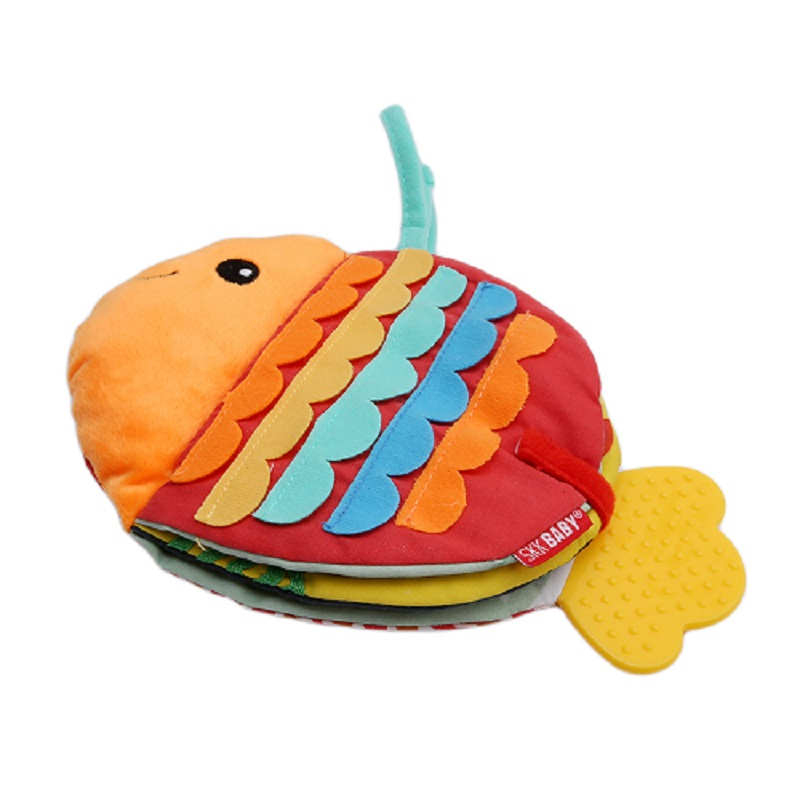 Animal Fish Soft Fun Cloth Book Baby Intelligence Development BB Sounds Learn Picture Cognize Quiet Book Rattle Toy Gift
