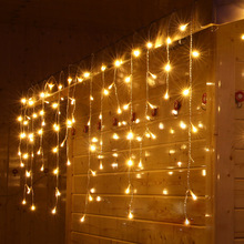 4M*0.6M LED Wedding fairy Light christmas garland LED Curtain string Light outdoor new year Birthday Party Garden Decoration
