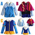 Children Clothing Winter Cartoon Outerwear&Coats Anna Elsa Thick Princess Girls Hooded Kids Jackets Baby Girl Warm Coat E1455