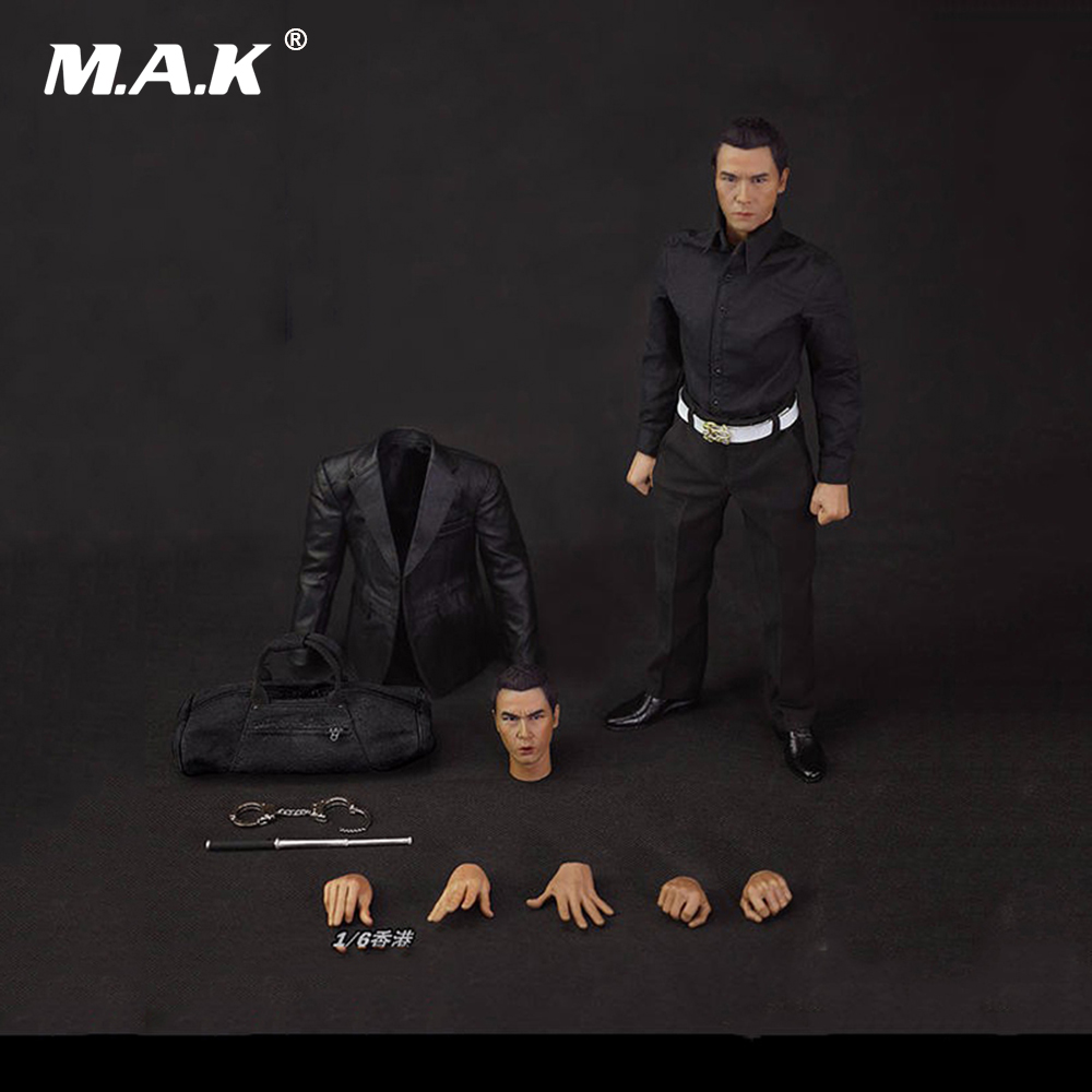 1/6 HK CID Senior Inspector Ma Sir Donnie Yen Full Set Action Figure with two heads Headplay 12 Male Action Figure 1 kenolux shine cid lines 981794