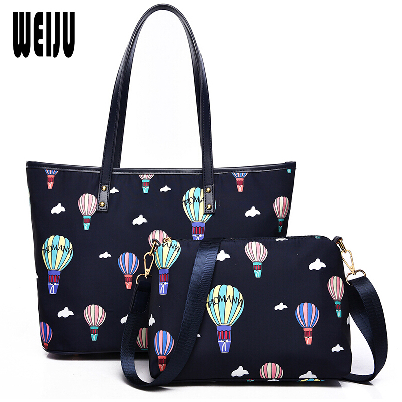 WEIJU 2 Sets Handbag Women Composite Bag Female Large Capacity Tote Women Messenger Bags Fashion Shoulder Crossbody Bag miesati luxury 3 sets handbag women composite bag female large capacity tote bag fashion shoulder crossbody bag small purse