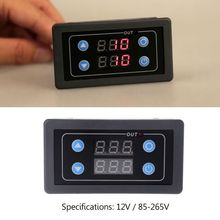 цена на DC 12V AC 85-265V Mini LED Digital Time Relay Module Time Delay Relay Timer Cycle Time Control Switch