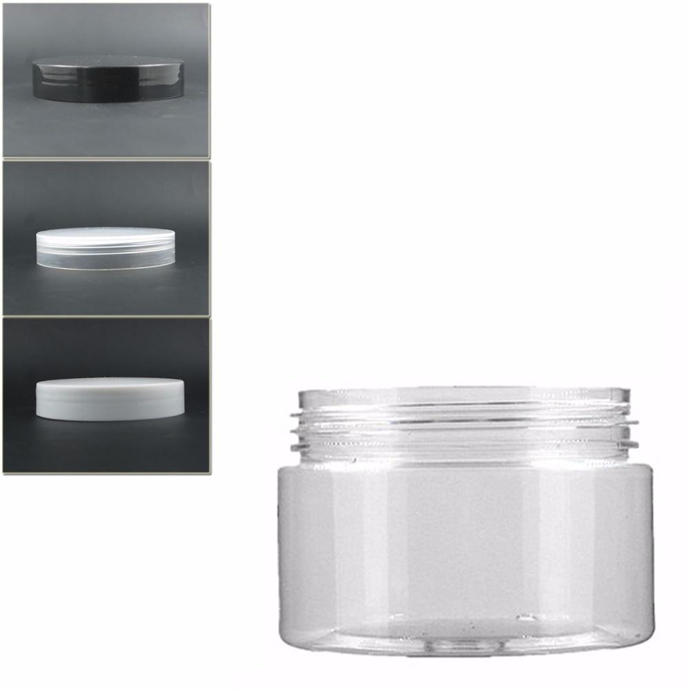 18pcs/lot 100ml Clear Pet Jar With Transparent/white/black Plastic Lid,plastic Jar,Cosmetic Jar,plastic Container,bottle