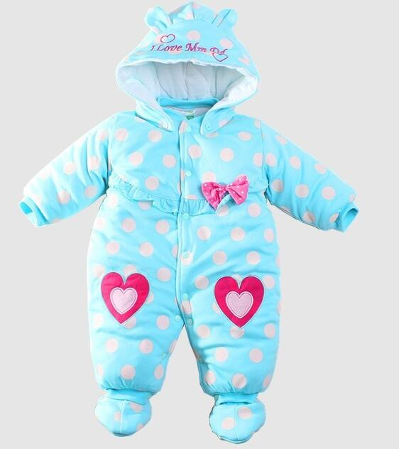 Baby Winter Romper cotton-padded One Piece Newborn Baby Girl Warm Jumpsuit Autumn Fashion baby's wear Kid Climb Clothes 2017 new baby winter romper cotton padded thick newborn baby girl warm jumpsuit autumn fashion baby s wear kid climb clothes