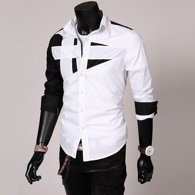 d6d35619 2016 New Arrival Mens Hot Sale Famous Design Business Cotton Sliming Suit  Dress Shirt Best Quality 7 Colors 5 Sizes