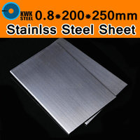 0 8 200 250mm TP304 AISI304 Stainless Steel Sheet Brushed Stainless Steel Plate Drawbench Board DIY