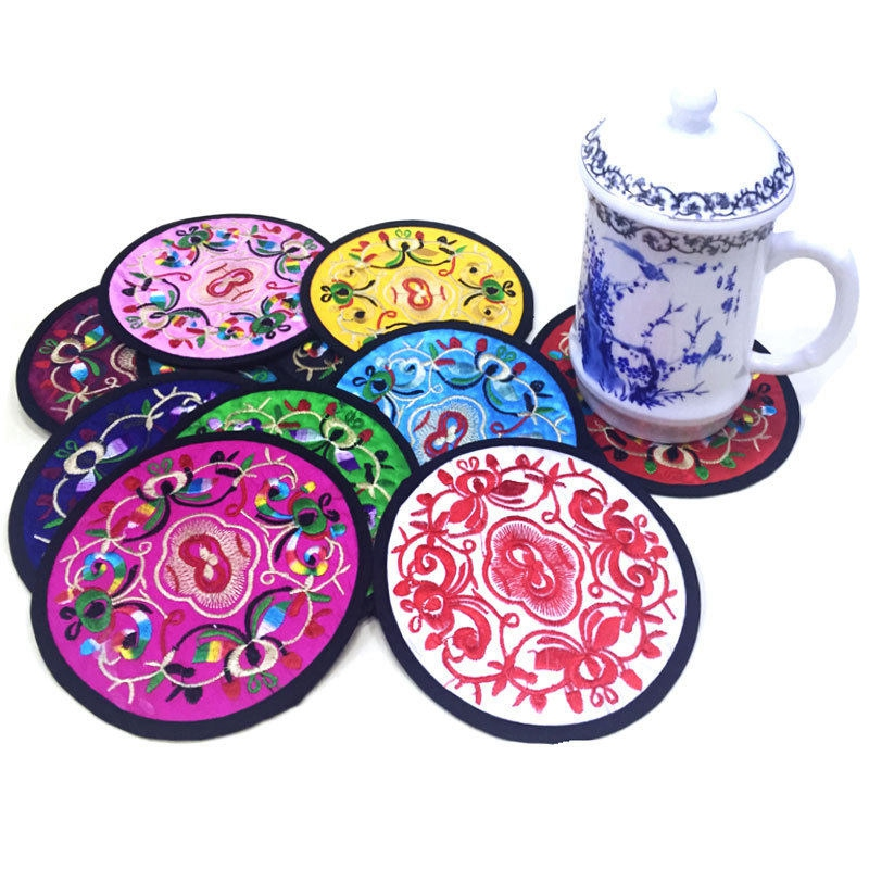 Japanese Cloth Coasters Coffee Cup Padded Teapot Double Tea Cup Coasters H Style