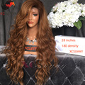 XCSUNNY 180 Density Full Lace Human Hair Wigs Two Tone Ombre 4/30 Color Lace Front Wig Body Wave Human Hair Wigs 180 Desnity Wig