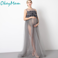 Maternity Photography Props Pregnancy Wear Party Evening Dresses Clothes Maternity Clothing For Photo Shoots Pregnant Dresses