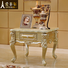 Continental wood rectangular marble coffee table corner a few champagne four drawers TV cabinet combination of several new part