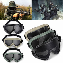 Mayitr страйкбол Тактическая защита глаз металлическая сетка очки для наружного кемпинга Пешие прогулки Охота безопасность