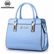 Luxury Handbags Women Bags Designer Crocodile Grain Leather Women Shoulder Over Bag Portable Female Famous Brand Cross-Body 2016