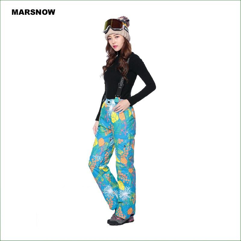 MS05P nouveau pantalon de ski d'hiver Double couche imperméable à l'eau et coupe-vent pour femmes
