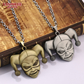 Suicide Squad Ugly Girl Harley Quinn Necklace Super Heroes Silver Bronze Metal Keychain For Gift Chaveiro Car Key Holder For Man