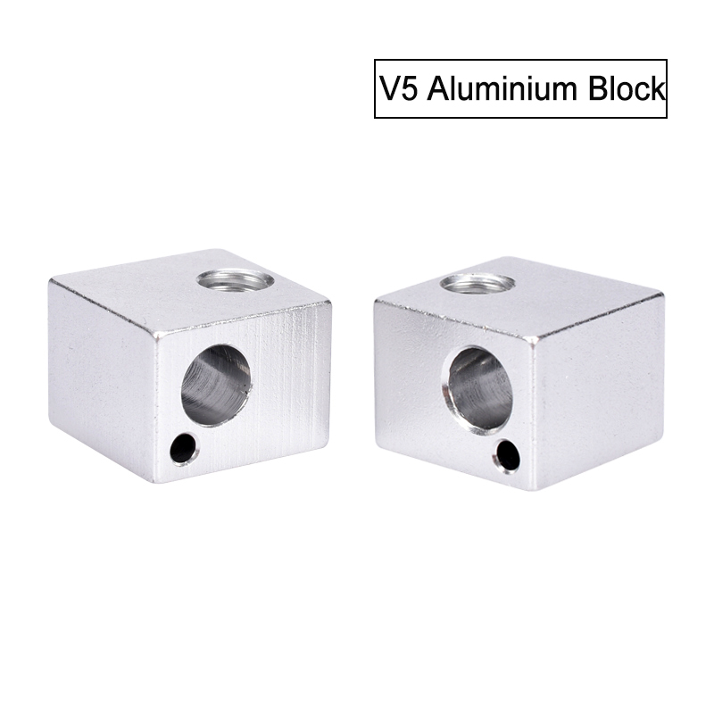 3D Printer Parts V5 Aluminium Block All Metal Heating Block Of Hotend 3D Aluminum Process 16x16x12mm Printer Accessories