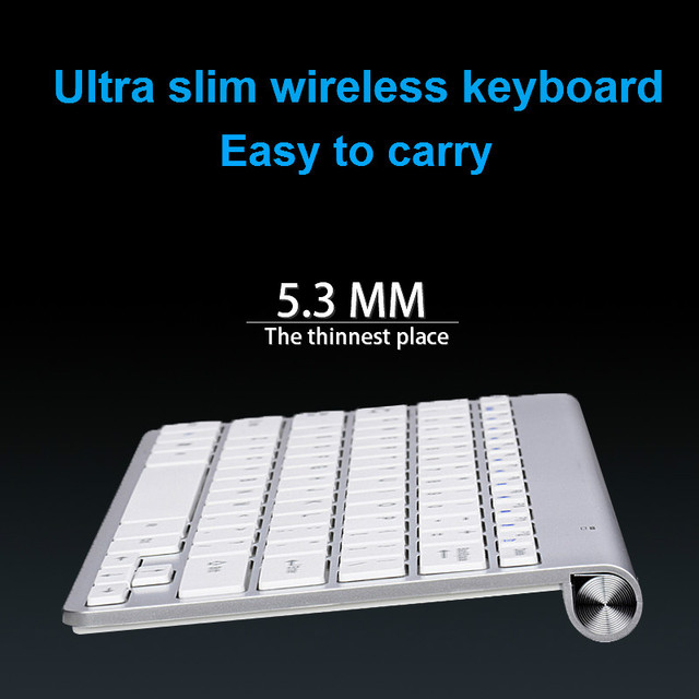 Ultra Slim 2.4G Wireless Keyboard Portable Mouse Mini Set Keyboard for IOS Android For Mac/Notebook/TV Box/PC Office Supplies 4