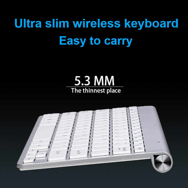 42fbe30d790 ... Ultra Slim Wireless Keyboard Portable Mouse Keyboard Set For  Mac/Notebook/TV Box/ ...