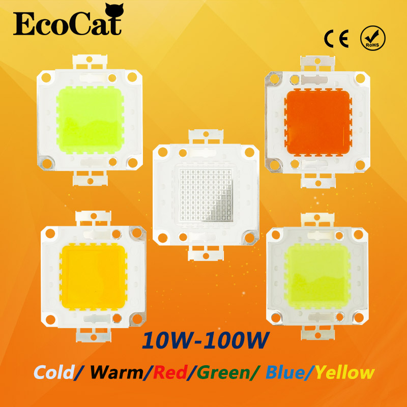LED Chip 10W 20W 30W 50W 100W  led bulb Cold warm  red green bulb RGB lamp COB  Integrated For Floodlight Spotlight