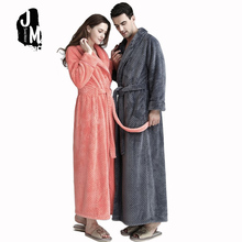 New Winter Robe Woman Sexy Loose Homewear Pajama Nightgowns Sleepwear Coral velvet long female Bathrobe Thick Robes