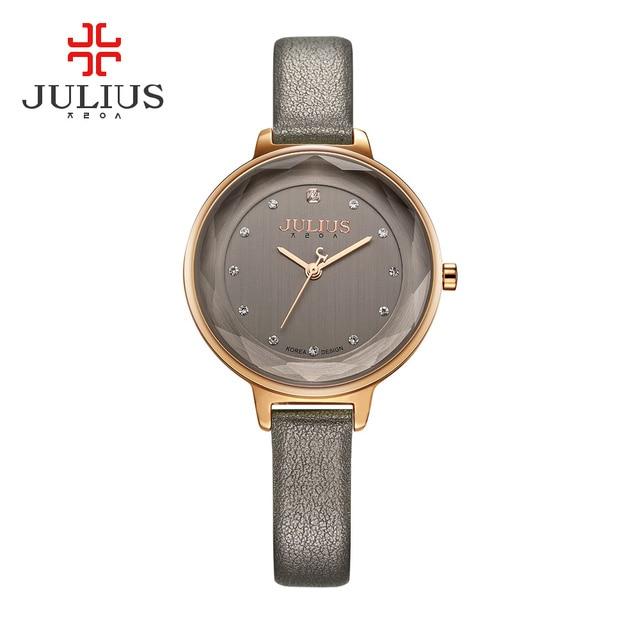 cfed87a27250 Julius Marca Relojes de Cuarzo de Las Mujeres Reloj Pulsera de Diamantes Señoras  de Cuero Rosa