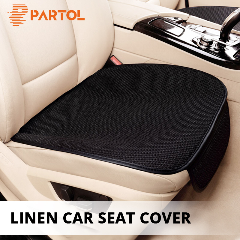 Partol 1Pc Universal Car Seat Covers Breathable Front Auto Car Seat Protector Automobile Seat Cover Cushion Pad Mat Car Styling dewtreetali car front seat cover sandwich four seasons universal seat protector cushion cover fit most auto car suv car styling