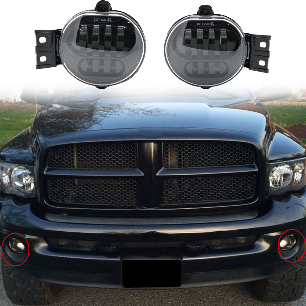 2 X Car Accessories Front Fog Light Led For 2002 2008 Dodge Ram 1500 2500 3500 Durango 2004 2006 Lamp