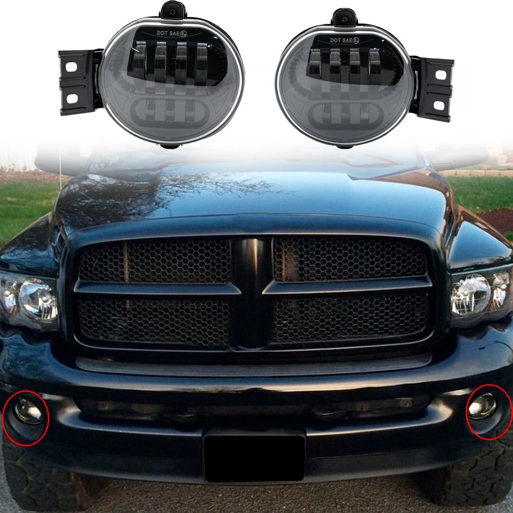 2002 Dodge Ram 1500 Accessories >> Us 45 61 16 Off 2 X Car Accessories Front Fog Light Led For 2002 2008 For Dodge Ram 1500 2500 3500 For Dodge Durango 2004 2006 Fog Lamp In Car