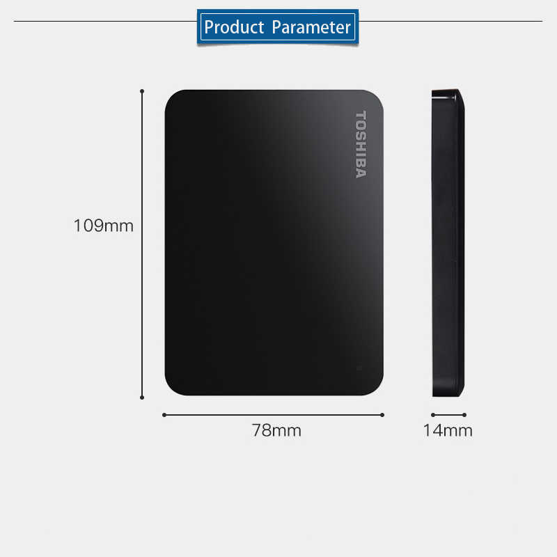 "Toshiba 500 GB Eksternal Hard Drive Disk HDD Perangkat Penyimpanan Portabel Canvio Basics HD USB 3.0 SATA 2.5 ""untuk komputer Laptop PS4"