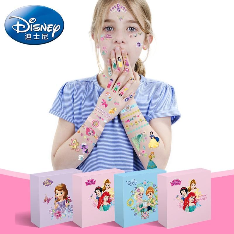 Disney Princess Frozen Tattoo Sticker Children Cartoon Sticker Creative Fashion Sticker Waterproof Sticker Toys For Children