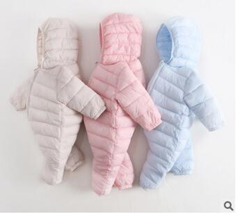 цена на High Quality Baby Rompers Winter Thick Cotton Boys Costume Girls Warm Clothes Kid Jumpsuit Children Outerwear Baby Wear 7 Colors