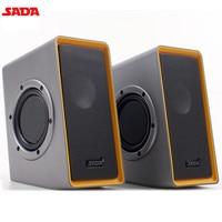 SADA V 151 Computer Laptop Subwoofer Mini Portable Speakers HiFi PC Notebook Speaker Desktop 3 5mm
