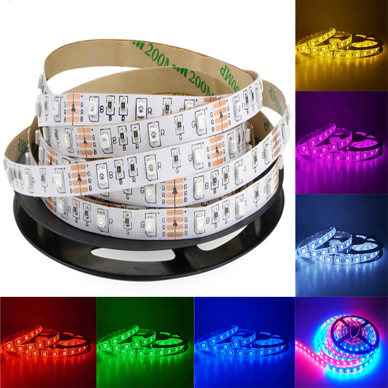 LED Strip Light RGB 12V Flexible Home Holiday Decoration Lighting SMD 5050 Waterproof 4PIN 2PIN 1m- 5m TV Background Wall Hot M5