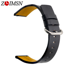 ZLIMSN Design Classic Buckle Cow Leather Watch Band Bracelet Accessories Wrist Quick Release Switch Spring For Men Women 20 22mm