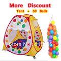Gran regalo del niño Promoción precio spot carpa infantil + 50 mar wave bolas bolas casa de juego de niños tienda del juego de interior y al aire libre ZP5002