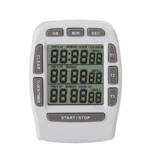Digital LCD Kitchen Timer Magnetic Timers Cooking 3 channel Display Hour/Min/Sec AM/PM Gadgets Tools