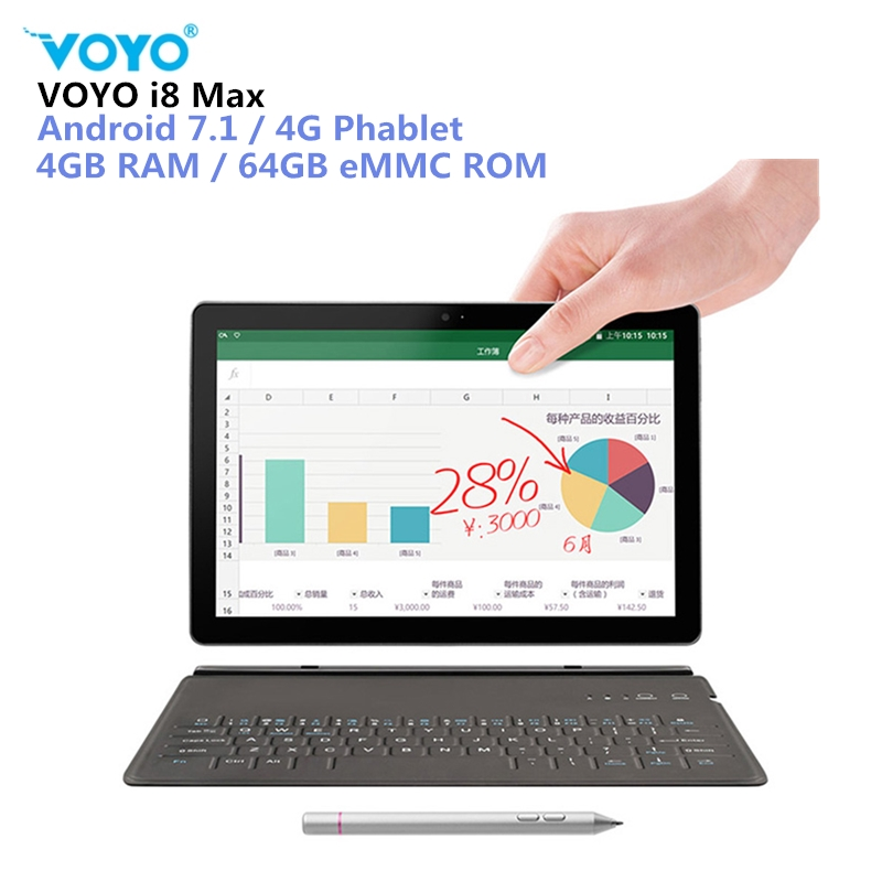 VOYO I8 Max LTE 4G Phablet Tablet PC Android 7.1 10.1'' MTK6797 Deca Core 4GB+64GB 13MP 4G Phone Call Tablet PC OTG Dual-SIM GPS