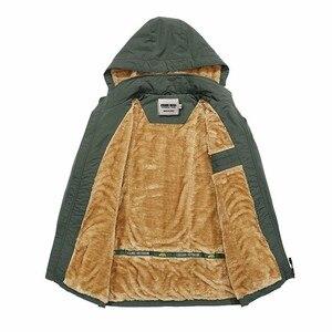 Image 3 - KOSMO MASA Black Fur Parka Men Coats Winter Jacket Mens Cotton Zipper Military Long Sleeve Hooded Casual Down Parkas 5XL MP027